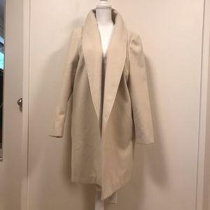 NWOT Halogen Classic Cream Wool Coat size 1x